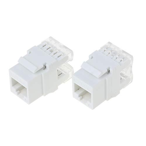 2 stuks UTP CAT6A netwerkmodule Informatie bus RJ45 Keystone-connector kabel Adapter Keystone Jack