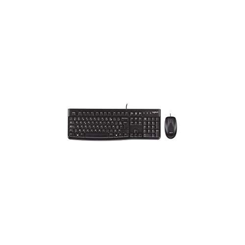 Logitech MK120 Kabelgebundenes Tastatur-Maus-Set, Optische Maus, USB-Anschluss, PC/Laptop, Französisches AZERTY-Layout - schwarz