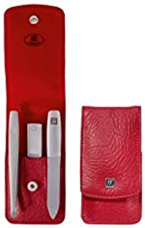 Zwilling Pocket Case, Leather, Red, 3 pcs.