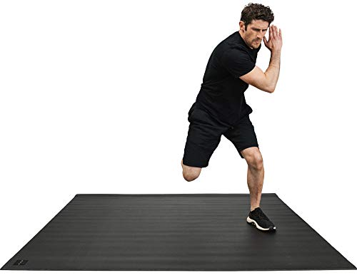 Square36 Thick Large Exercise Mat 6'x6' Workout Floor Mats...