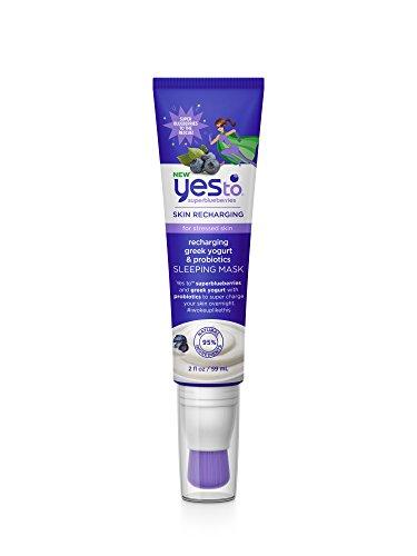 Yes To Super Blueberries Recharging Yogurt & Probiotics Sleeping Mask, 2 Ounce