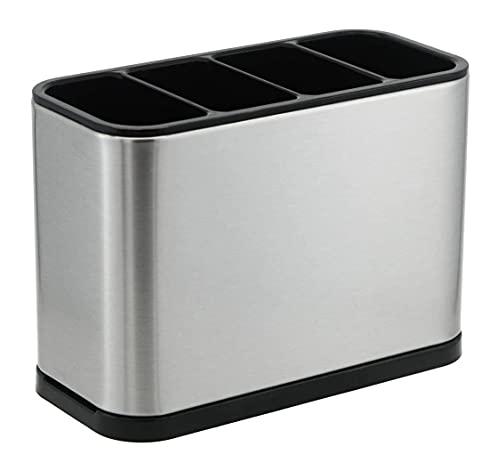 Kitchen Utensil Holder, Stainless Steel Utensil Drying Rack Flatware Holder...