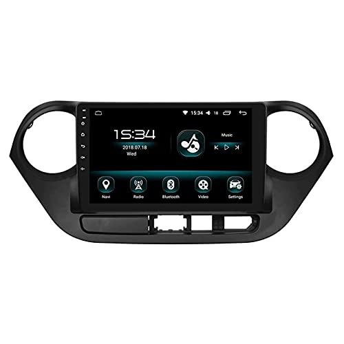 WY-CAR GPS Navigation Radio Multimedia Player para Hyundai I10 2013-2016, Pantalla Táctil Completa 2.5D 9 Pulgadas/Android 8.1 Double DIN/SWC/Mirror Link/FM/Bluetooth,8 Core-WiFi: 2+32G