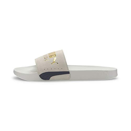 PUMA Leadcat FTR Suede Classic, Zapatos de Playa y Piscina Unisex Adulto, Gris (Marshmallow Team Gold Black), 46 EU