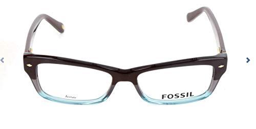Fossil Brillengestelle FOS 6066 Rechteckig Brillengestelle 50, Mehrfarbig