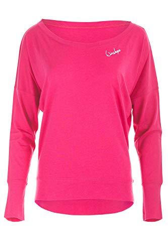 WINSHAPE Damen Ultra Leichtes Modal-Longsleeve MCS002, Dance Style, Fitness Freizeit Sport Yoga Workout, deep-pink, S