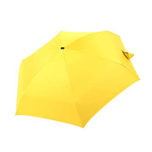 Amarillo Amarillo 100 cm 16 Piezas, autom/ático, a Prueba de tormentas iX-brella Long Paraguas de bast/ón