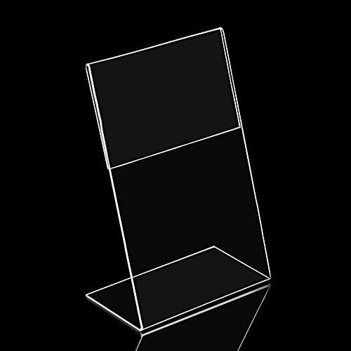 PPuujia Soporte de exhibición de acrílico transparente para escritorio, estante de la tarjeta de negocios, oficina, soporte vertical de calidad (color: 15 x 10 cm)