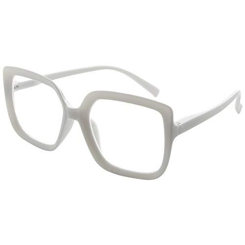 Eyekepper Reading Glasses for Women Large Frame Readers Eyeglasses Oversize - White