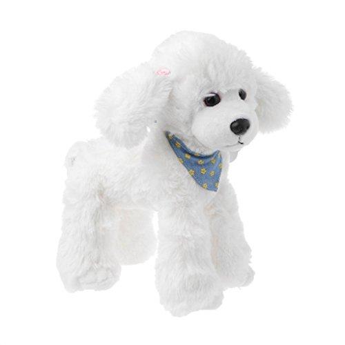 Xuniu Schöne Gefüllte Hunde Puppe Spielzeug, weiche Pudel Plüschtier Für Kinder Geburtstage Geschenk Weiß 20x25 cm