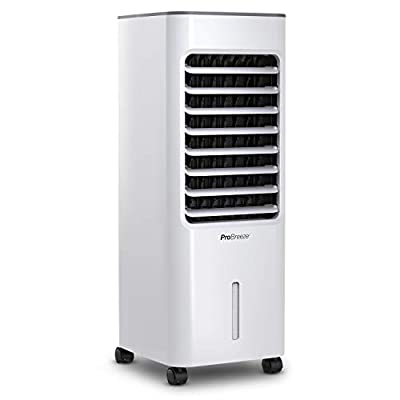 Pro Breeze® 5L Portable Air Cooler with 4 Operational Modes, 3 Fan Speeds, LED Display & Remote Control. High Powered Evaporative Air Cooler with Built in Timer & Automatic Oscillation