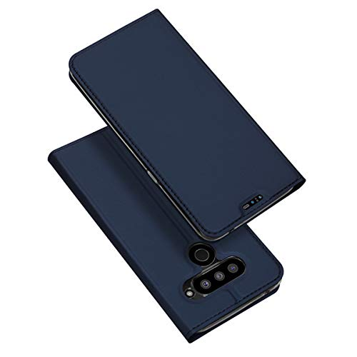 Dux Ducis - Funda para LG V50 ThinQ (piel sintética, cierre magnético), color azul