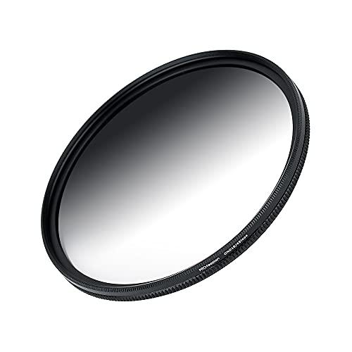PROfezzion Filtro de lente ND variable de 62 mm, ND2-ND16 (4 paradas) de densidad neutra para Fujifilm XF 23 mm f1.4 R/Sony E 10-18 mm f4 OSS lente y otros lentes con rosca de filtro de 62 mm
