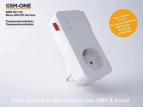 GSM Fernschalter,FROSTWÄCHTER, HITZEWÄCHTER, DRH-301-V4(Master), 4G/LTE mit APP Steuerung