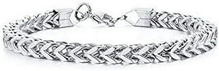 lfhyyazhj Men's Bracelet Domineering Stainless Steel Jewelry 6mm Solid Leakproof Bracelet 8.6 Inch