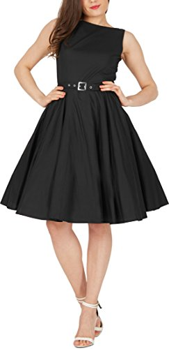 Black Butterfly 'Audrey' Vintage Clarity Kleid im 50er-Jahre-Stil (Schwarz, EUR 36 – XS) - 8