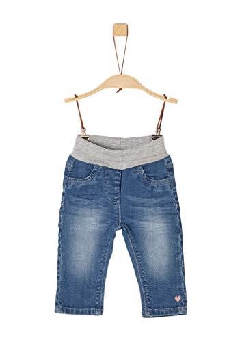 s.Oliver Junior Baby-Mädchen 56.899.71.0746 Jeans, Blau (Blue Denim Stretch 55z7), (Herstellergröße: 80/REG)
