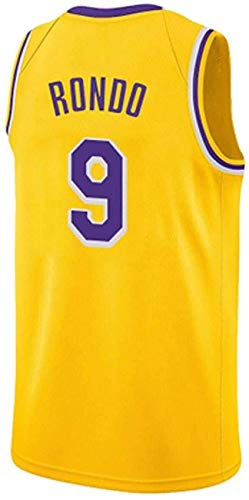 ZEH Jersey Lakers Rondo 9 Ingram 14 Ball 2 Commemorative Vintage Match Jersey Jersey Jersey de regalo de fanáticos (color: amarillo 14, talla XL: XXL) FACAI (color: amarillo 9, talla XXL)