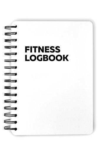 Fitness Logbook Heavy: 16 Weeks – 6 x 8 inches – Thick Paper, Durable Cover, Round Corners, Wire-Bound – Stylish, Minimalistic and Easy-to-Use Undated Workout and Nutrition Journal