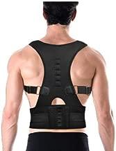 Kriva Male Female Adjustable Magnetic Posture Corrector Corset Back Brace Back Belt, 1Pc(Black Color)(M-Waist Size: 72cm-85cm)