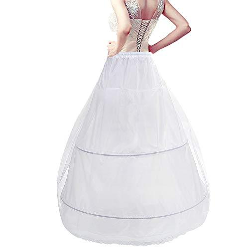 Reifrock Brautkleid Petticoat Unterrock, Tüll Reifrock A Linie 2 Ring verstellbar Krinoline Damen/Mädchen lang Underskirt für Hochzeitskleider Ballkleider Abendkleider Brautkleider Promkleider