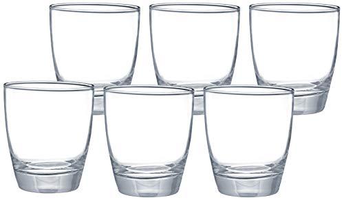 Amazon Brand - Solimo MEA Whisky Glass Set, 380ml, Set of 6, Transparent