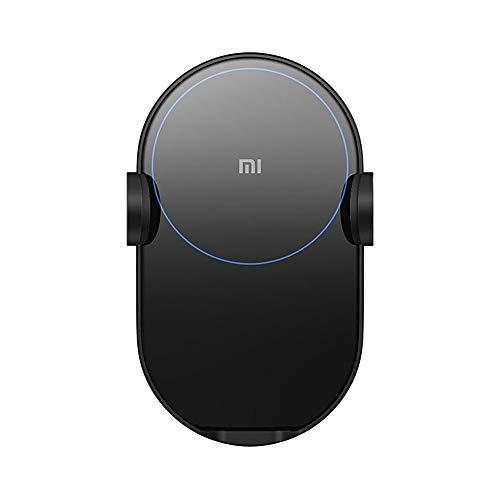 Xiaomi Mi 20W Wireless Car Charger Qi/EPP Ladepad (Induktionsdistanz bis zu 4mm, autom. Festklemmen des Smartphones, Smart LED, 27W Autoadapter, Installation an Lüftungsschlitz oder via Saugnapf)
