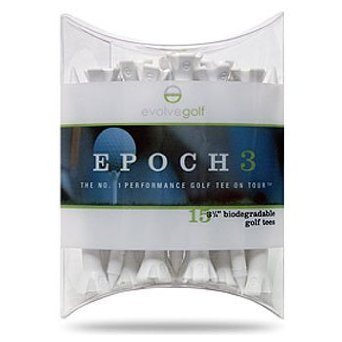 """Evolve Golf Epoch Golf Tees 15 Pack (10 2.75"""" and 5 1.5"""")"""