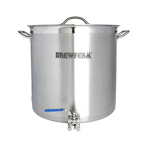 Brewferm® cuve de brassage inox 50 l avec robinet à boisseau sphérique (40 x 40 cm)