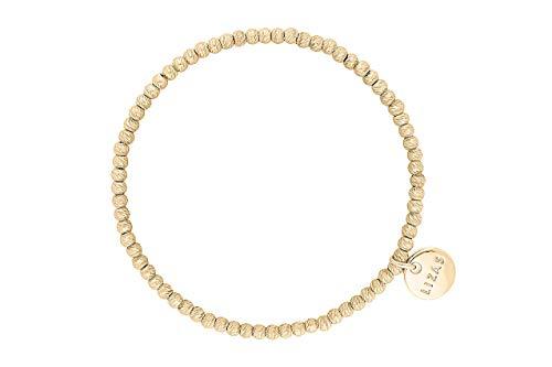 Lizas - Bracciale di perle dorate, vari modelli e sintetico., colore: oro/opaco., cod. Lizasgold