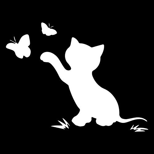 Coches y Motos Pegatina de Dibujos Animados de la Etiqueta engomada del Animal de la Mariposa del Gato (15x11.5cm) (Color : 2)