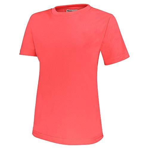 Alps to Ocean Sports Kinder Sportshirt Funktions T-Shirt Teamsport (schnelltrocknend, atmungsaktiv), Größe:164, Farbe:Neon Pink
