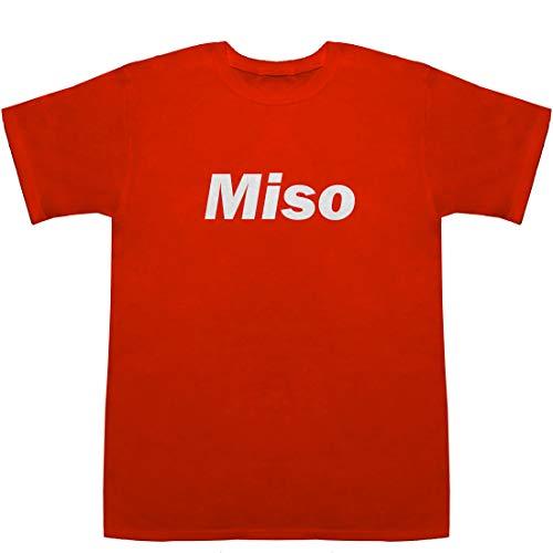 Miso 味噌 ミソ T-shirts レッド L【塩分濃度】【液体】