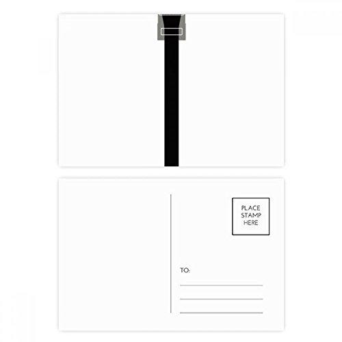 DIYthinker Internet-Kabel Schwarz-Plug-Muster-Postkarte Set Geburtstag dankt Karte Mailing Side 20pcs 5.7 Zoll x 3.8 Zoll Mehrfarbig