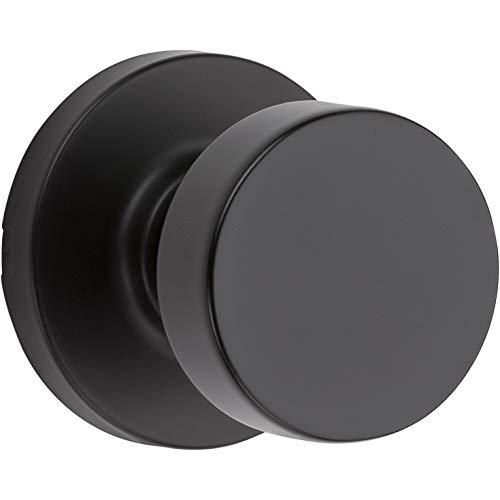 Kwikset 97200-892 Pismo Hallway/Closet Door Knob, Round, Iron Black