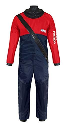 Dry Fashion Damen Herren Kinder Trockenanzug Sailing Standard Nylon, Farbe:navy/rot, Größe:XL