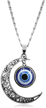 Picano Turkish Evil Eye Pendant Necklace for Women Men Amulet to Protection Necklace Moon product image