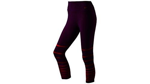 Nike Damen Oberbekleidung Legend Poly Burnout Tights, lila, XS
