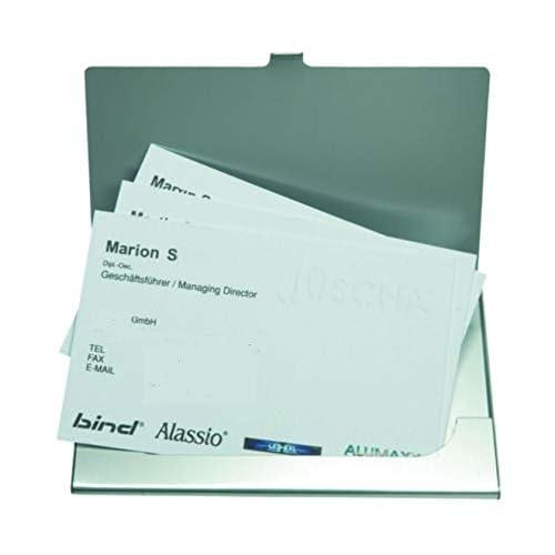 Alassio Visitenkartenetui aus Aluminium in matter Optik, Etui für ca. 10 Visitenkarten Porta biglietti da visita, cm, Argento (Silber)