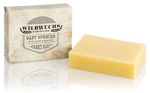 Bartseife BART SPENCER von Wildwuchs Bartpflege - Beard Soap Stück Seife für Männer 100% natürlich und vegan Naturkosmetik (1 x 90 g)