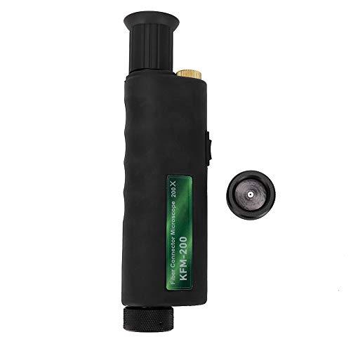 Microscopio portátil de fibra óptica, inspección Mini 200X 400x Adaptador de aumento de 2,5 mm, Microscopio de fibra óptica con LED blanco