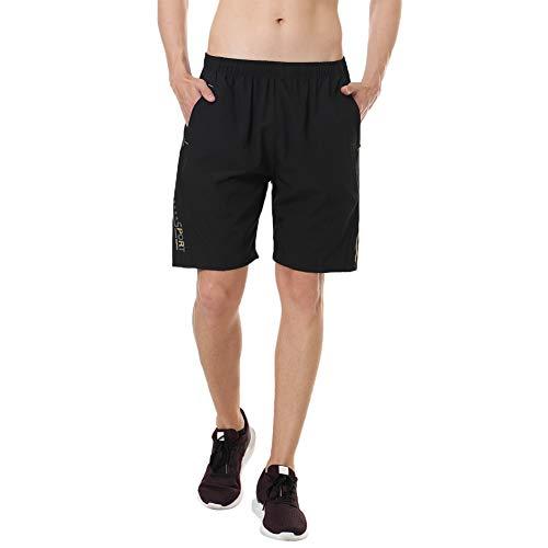 Sporthose Herren Kurz Herren Sport Shorts Kurze Hosen Herren Fitness Kurze Hose mit Taschen Reißverschluss
