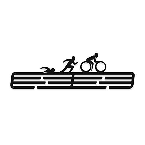 Medalmania Colgador de medallas – Soporte de medallas de triatlón triatlón – Expositor de medallas para más de 30 medallas