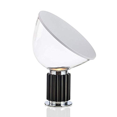 JiYZe Desk lamp Ti Surviving Room Nachtti Eye-Friendly Ti Table Wakeful Night Lite Glass Table Lamp Freely rotatable lamp Head Original LED Magnifying Glass Table lamp (Color : Gr??e A)