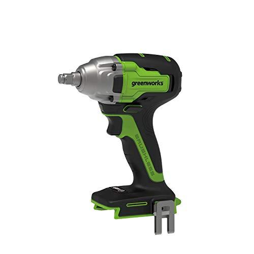 Greenworks - Atornillador de impacto eléctrico para coche, batería de ion de...