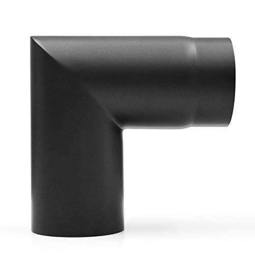 raik SH007-130-sw Rauchrohrbogen/Ofenrohr 130mm - 90° zweiteilig schwarz