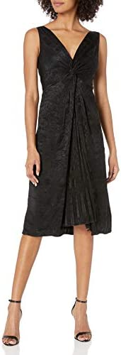 Bailey 44 Women s Textured Fabric Pleated Knee Length Dress Black Multi 10 product image
