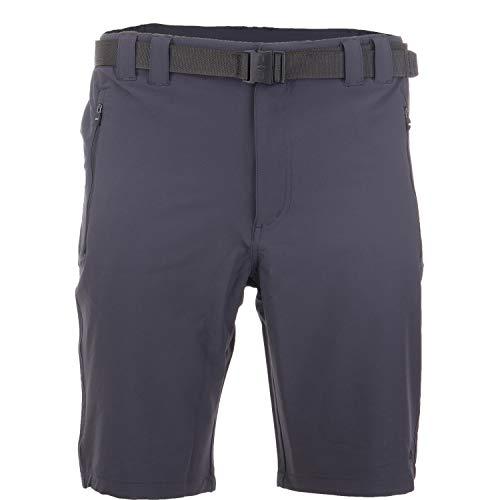CMP Bermuda Outdoor Kurze Hose Herren mit UV-Schutz Wandern Radfahren Arbeit und Freizeit Sondermodell Murakino, Farbe:Antracite/Nero, Größe:L