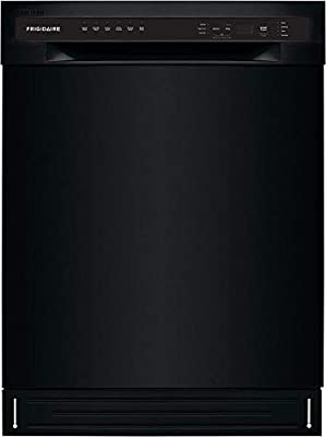 """Frigidaire FFBD2420UB 24"""" Full Console Dishwasher with Stainless Steel Drum 12 Place Settings 6 Wash Cycles and Heated Drying System in Black"""