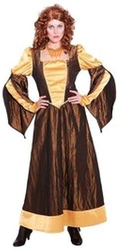 Orlob Mittelalterkleid - Juliet - braun-Gold - Größe  38 oder 42 Größe 42